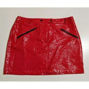 Topshop Vinyl Zip Pocket Mini Skirt - NWT
